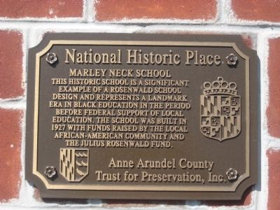 Marley Neck School Marker image. Click for full size.