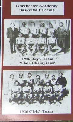 Athletic Programs at Dorchester Academy 1926-1940 image. Click for full size.