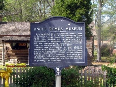 Uncle Remus Museum Marker image. Click for full size.