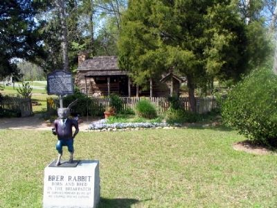 Uncle Remus Museum, Brer Rabbit Statue, and Marker image. Click for full size.