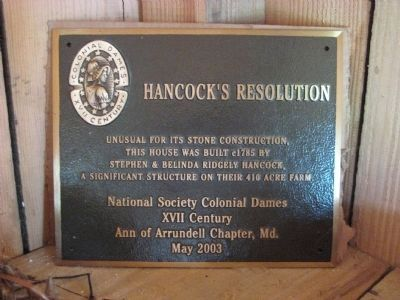 Second Hancock's Resolution Marker image. Click for full size.