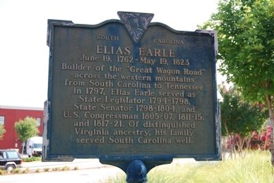 Elias Earle Marker image. Click for full size.