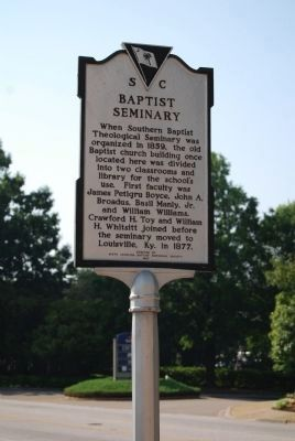 Baptist Seminary Marker image. Click for full size.