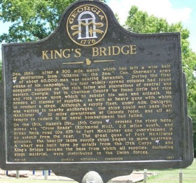 King's Bridge Marker image. Click for full size.