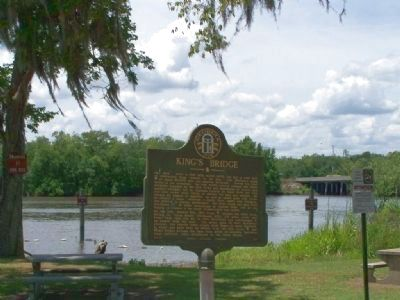 King's Bridge Marker, US 17 at the Ogeechee River image. Click for full size.
