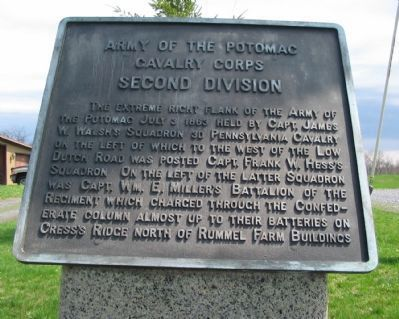 Second Division, Cavalry Corps Marker Photo, Click for full size