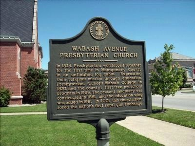 Wabash Avenue Presbyterian Church Marker Photo, Click for full size