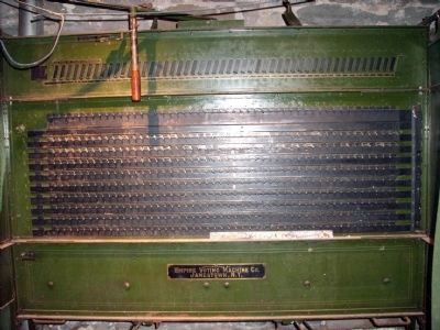 "OLD: ""Empire Voting Machine"" (portable) made in: Jamestown, N. Y.. image. Click for full size."