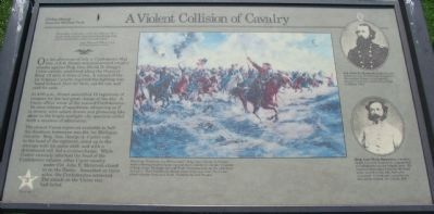 A Violent Collision of Cavalry Marker image. Click for full size.