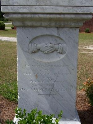 Josiah S. Law cenotaph image. Click for full size.