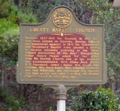 Liberty Baptist Church Marker image. Click for full size.