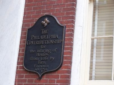 The Philadelphia Contributionship Plaque image. Click for full size.