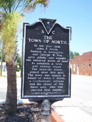The Town Of North Marker image. Click for full size.