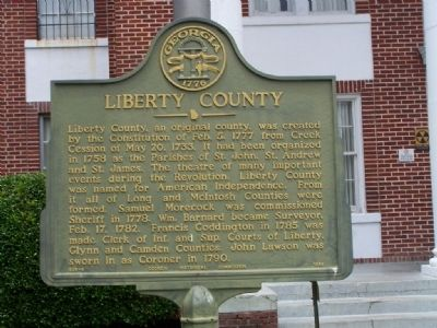 Liberty County Marker image. Click for full size.