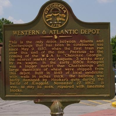 Western & Atlantic Depot Marker image. Click for full size.