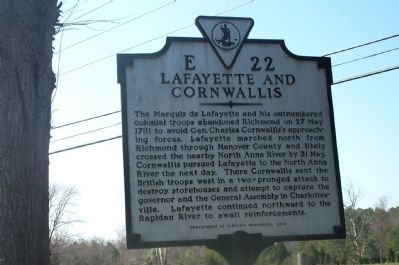 Lafayette and Cornwallis Marker image. Click for full size.