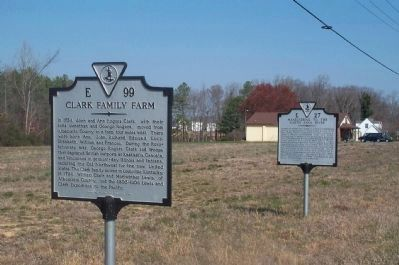 "The ""Clark Family Farm"" and ""Maneuvering to the North Anna"" Markers image. Click for full size."