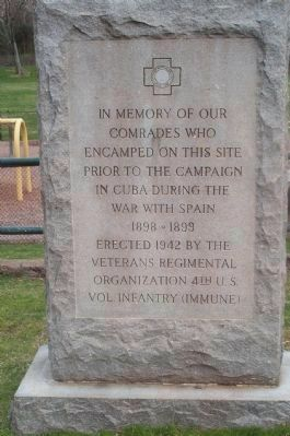 Nearby Spanish War Veterans Marker image. Click for full size.