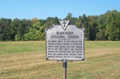 Beaverdam Episcopal Church Marker Photo, Click for full size