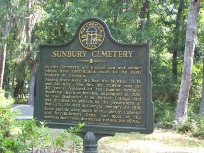Sunbury Cemetery Marker image. Click for full size.