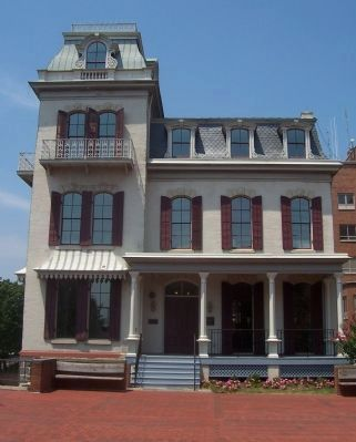 "General Oliver O. Howard House, seen from ""Founder's Walk"" image. Click for full size."