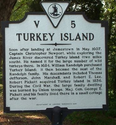 Turkey Island Marker Photo, Click for full size