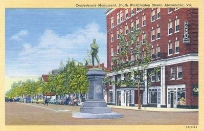 Confederate Monument, South Washington Street, Alexandria, Va. Photo, Click for full size