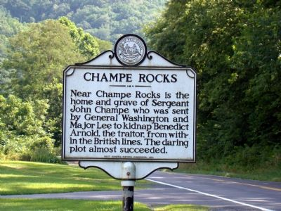 Champe Rocks Marker image. Click for full size.