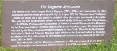 """The Daguerre Monument"" Photo, Click for full size"