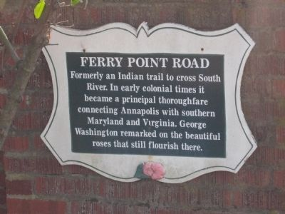 Ferry Point Road Marker image. Click for full size.