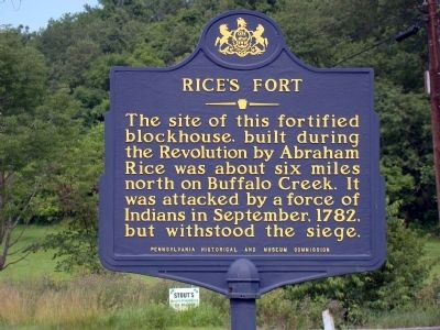 Rice�s Fort Marker Photo, Click for full size
