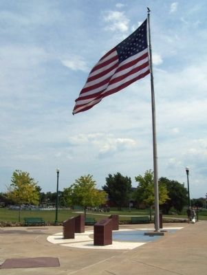 Military Services Memorial Plaza Flag image. Click for full size.