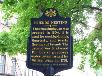 Friends Meeting Marker image. Click for full size.