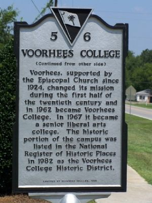 Voorhees College Marker ( Side 2 ) image. Click for full size.