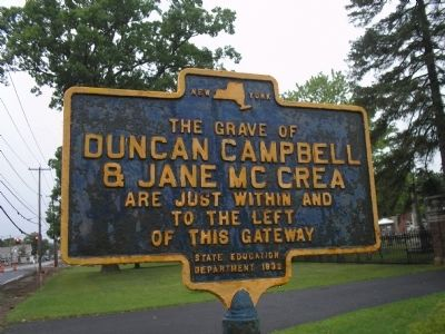 The Grave of Duncan Campbell & Jane McCrea Marker Photo, Click for full size