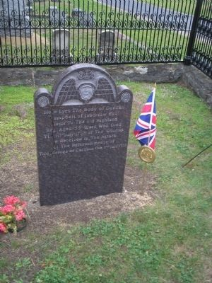 Grave of Duncan Campbell Photo, Click for full size
