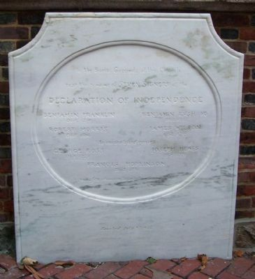 Resting Place of Seven Signers of the Declaration of Independence Marker image. Click for full size.