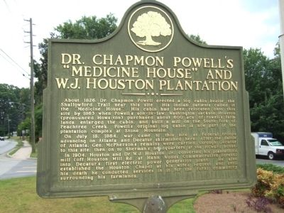 "Dr. Chapmon Powell's ""Medicine House"" and W.J. Houston Plantation Marker image. Click for full size."