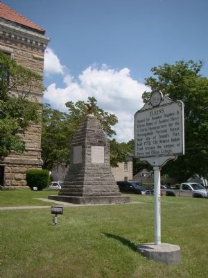 Elkins Marker and War Memorial image. Click for full size.