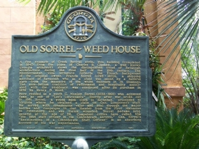 Old Sorrel–Weed House Marker Photo, Click for full size