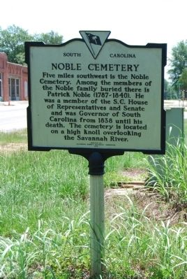 Noble Cemetery Marker image. Click for full size.