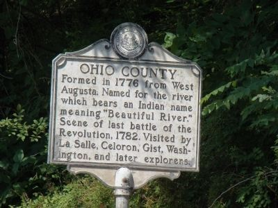 Ohio County Face of Marker image. Click for full size.