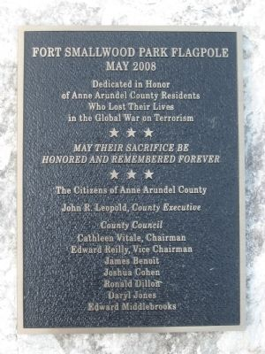 Fort Smallwood Park Flagpole Marker image. Click for full size.
