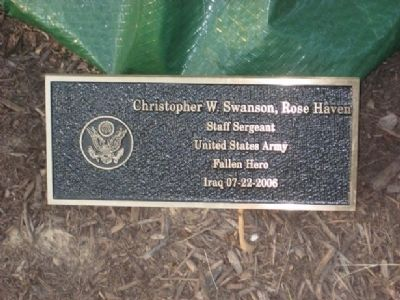 Christopher W. Swanson Marker image. Click for full size.
