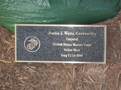 Justin J. Watts Marker image. Click for full size.