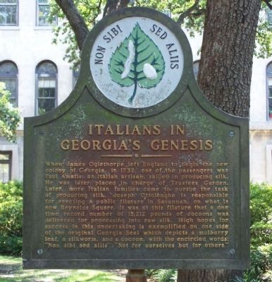 Italians in Georgia's Genesis Marker image. Click for full size.