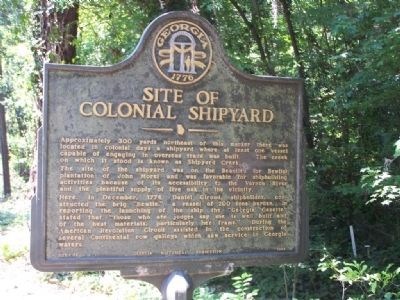 Site of Colonial Shipyard Marker image. Click for full size.