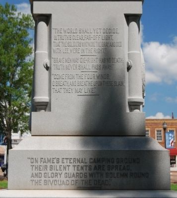 Abbeville County Confederate Monument -<br>South Side Photo, Click for full size