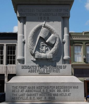 Abbeville County Confederate Monument -<br>East Side Photo, Click for full size