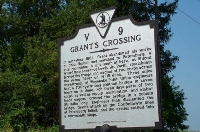 Grant's Crossing Marker image. Click for full size.